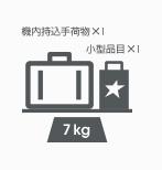 機内持込手荷物 個数と重量の制限