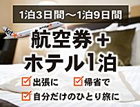 航空券+1泊
