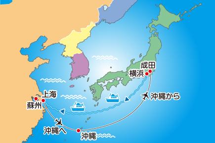 MSCスプレンディダで航く! 気軽に! 横浜から始まる上海クルーズ Map
