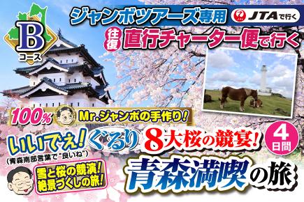 【Bコース】ぐるり8大桜の競演宴!青森満喫の旅4日間