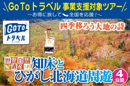 《世界自然遺産》知床とひがし北海道湯ったり周遊4日間