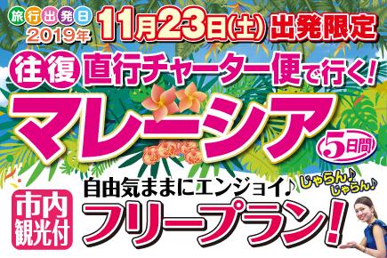 【11月 マレーシア5日間(Dコース)フリープラン